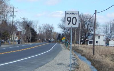 Verchères: une pétition éclair pour réduire la vitesse