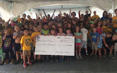 Contrecoeur: les jeunes du camp de jour font un don à la Colonie des Grèves