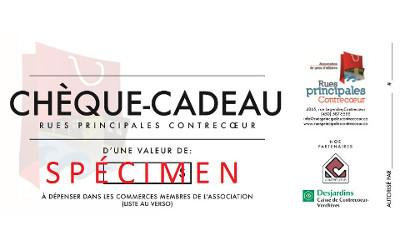 Lancement des certificats-cadeaux de Rues principales Contrecoeur !