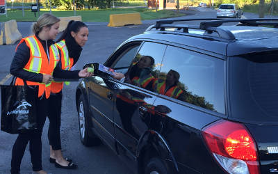 Contrecoeur: ArcelorMittal fait la promotion d'une rentrée en sécurité sur nos routes