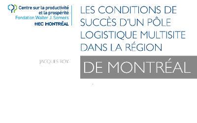 Pôle logistique régional de Contrecoeur: rapport concluant avec l'approche des intervenants locaux