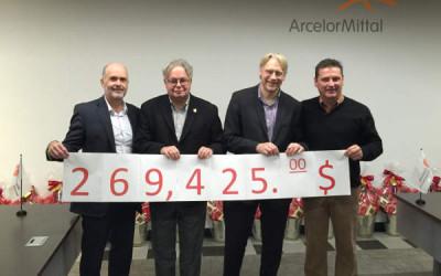 La campagne Centraide 2016 d'ArcelorMittal Produits longs Canada recueille 269 425 $
