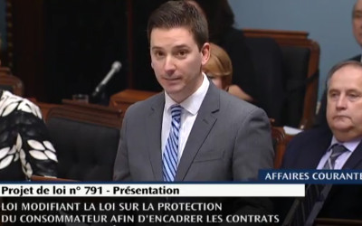 Le député de Borduas Simon Jolin-Barrette réagit au budget