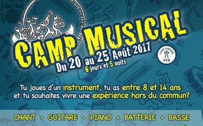 École de musique Chasse-Galerie: retour du camp musical !