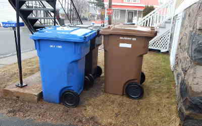 En vue de la première collecte des matières organiques: les matières recyclables seront collectées pendant deux semaines successives