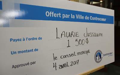 Ville de Contrecoeur: une aide financière de 1 500 $ pour Laurie Jussaume !