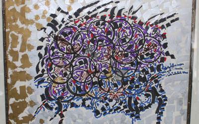 Une oeuvre de l'artiste-peintre Jean-Paul Riopelle: oeuvre d'art retrouvée à Saint-Hyacinthe