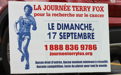Journée Terry Fox à Verchères: le 17 septembre 2017, on bouge pour vaincre le cancer!
