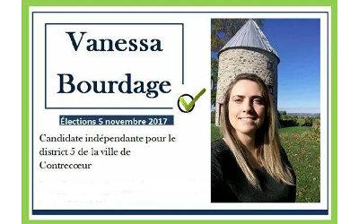Élections municipales de Contrecoeur: un message de Vanessa Bourdage, candidate indépendante pour le district 5