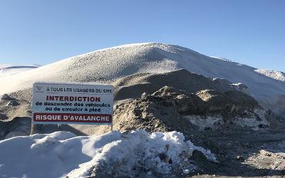 Le dépôt à neige de la Ville de Varennes rempli à pleine capacité