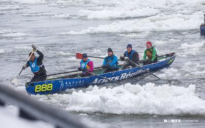 L'équipe soreloise de canot à glace dans le haut du classement de la Coupe des glaces