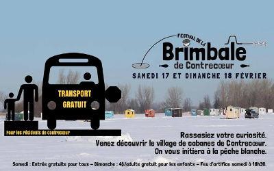 Samedi 17 et dimanche 18 février: en autobus vers le Festival de la brimbale!