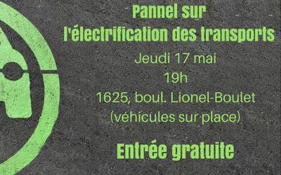 Animé par Xavier Barsalou Duval: panel sur les voitures électriques et l'électrification des transports