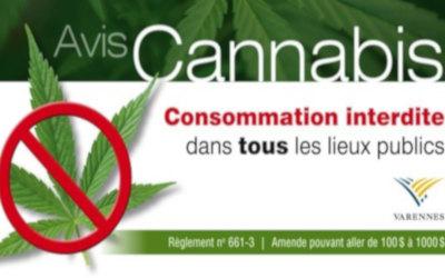 Varennes: interdiction de consommer du cannabis dans tous les lieux publics