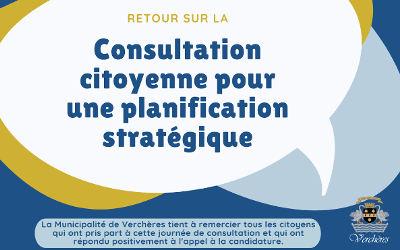 Verchères: retour sur la consultation citoyenne