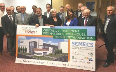 SÉMECS: État d'avancement du projet de centre de traitement intégré des matières organiques par biométhanisation et compostage