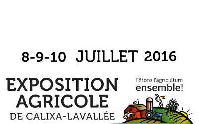 Exposition agricole de Calixa-Lavallée: de retour du 8 au 10 juillet !