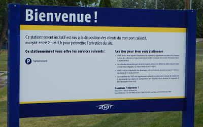 Verchères: stationnement incitatif ouvert !