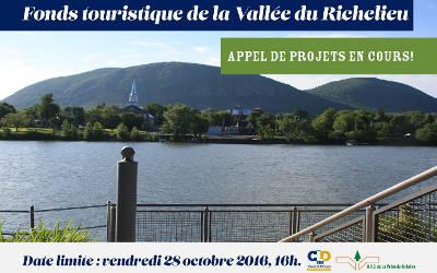 Fonds touristique de la Vallée du Richelieu: saisissez l'occasion et déposez votre projet!