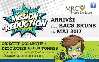 MRC Pierre-De Saurel: arrivée des bacs bruns