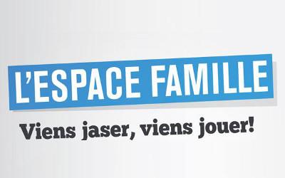 L'Espace-famille, viens jaser, viens jouer!