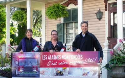 Concours régional «Les alarmes non fondées, c'est votre responsabilité»: les gagnants de Verchères !