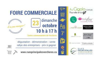 Verchères: venez découvrir vos commerçants locaux à la Foire commerciale !