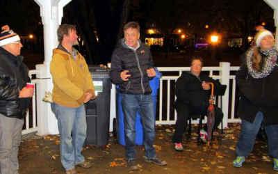 Sylvain Rochon participe à la nuit des sans-abri