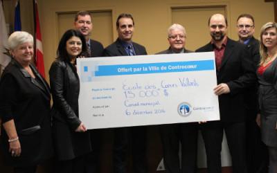 L'école des Coeurs-Vaillants reçoit 15 000 $  de la Ville de Contrecoeur