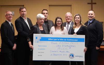 Ville de Contrecoeur: un chèque de 15 000 $ aux Événements Diable au Coeur !
