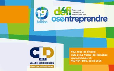 CLD Vallée-du-Richelieu: le dévoilement des gagnants locaux du 19e Défi OSEntreprendre approche!