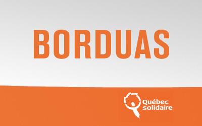 Québec Solidaire Borduas: un appel aux élus municipaux