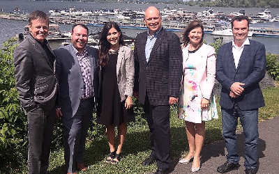 Le caucus des députés de l'Opposition officielle de la Montérégie réuni à Chambly