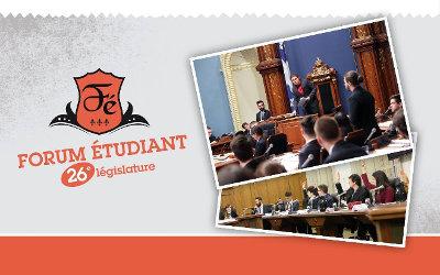 26e législature du Forum étudiant: Sylvain Rochon salue la participation de cinq étudiants du Cégep de Sorel-Tracy