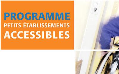 Nouveau programme Petits établissements accessibles (PEA) de la SHQ pour les centres d'affaires, commerciaux et communautaires