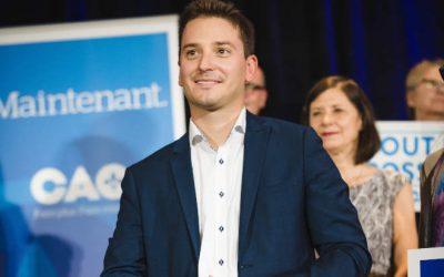 Élections provinciales dans Borduas: fin de semaine remplie pour Simon Jolin-Barrette