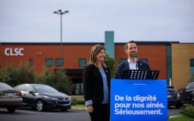 Borduas: Madame Diane Lamarre et Cédric G.-Ducharme ont présenté officiellement leur plateforme en matière de santé