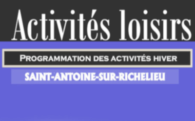 Saint-Antoine: Programmation des activités hiver 2020