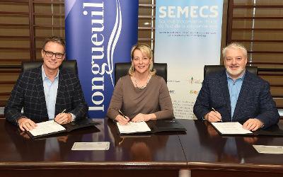 Traitement des matières organiques: l'entente entre Longueuil et la SÉMECS est signée!