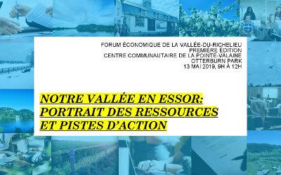 Un premier forum économique dans la Vallée-du-Richelieu