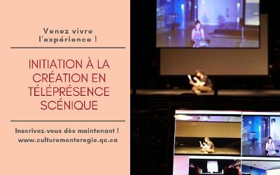 Une formation sur la téléprésence pour le milieu professionnel des arts de la scène de la Montérégie