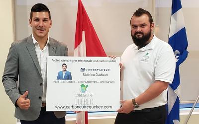 Des gestes concrets pour l'environnement dans la campagne du candidat Conservateur Mathieu Daviault !