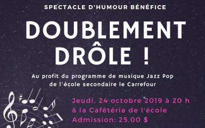 Invitation à une drôle de soirée à l'école secondaire le Carrefour de Varennes