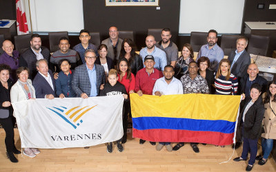 BIENVENIDOS! Accueil de travailleurs colombiens à Varennes