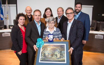 Marie-Claire Cardin honorée par le conseil municipal de Varennes