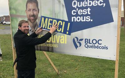 Xavier Barsalou-Duval remercie la population pour la confiance renouvelée