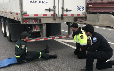 Sûreté du Québec: opération conjointe de véhicules lourds