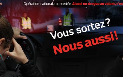 BILAN de l'OPÉRATION NATIONALE CONCERTÉE: ALCOOL ou DROGUE AU VOLANT, C'EST CRIMINEL !
