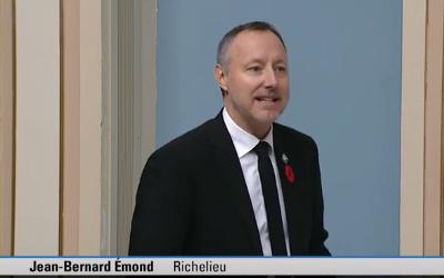 Le député Jean-Bernard Émond souligne la 40e édition du Salon des métiers d'art de Sorel-Tracy