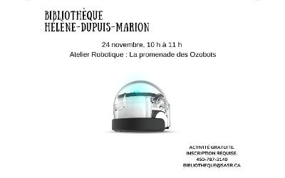 Bibliothèque municipale de Saint-Antoine-sur-Richelieu: L'Atelier Robotique, La promenade des Ozobots